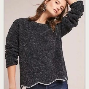 ANTHRO MOTH Shimmer Pullover Sweater M